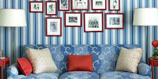 patriotic home decorations patriotic bedroom striped curtains painted stripes on drop cloth
