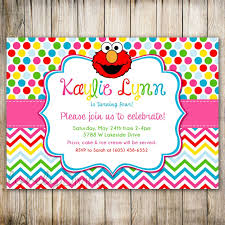 template sophisticated 1st birthday invitations boy elmo with