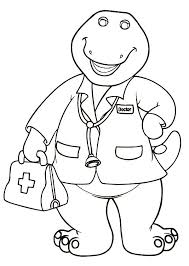 doctor barney coloring pages place color