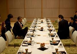 traditional japanese dinner table obama in japan d fun pinterest white houses photo galleries