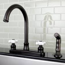traditional kitchen faucet kingston brass victorian centerset double handle kitchen faucet