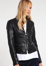 tigha jeansjacke mit lederärmel tigha leather jacket