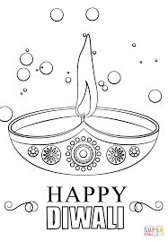 fireworks and crackers coloring page diwali pages for kids