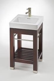17 9 inch single sink square console bathroom vanity with white