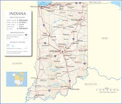 Monroe Michigan Map by Indiana Map Indiana State Map Indiana Road Map Map Of Indiana
