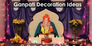 Home Ganpati Decoration Utsavi Marathi U2013 Green Ganesha Ganpati Decoration Ideas For Home
