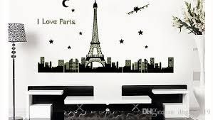 Eiffel Tower Room Decor New Paris Tower Night Glow Stickers Background Wall Stickers