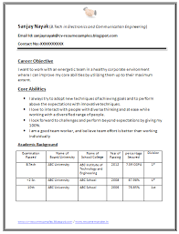 General Resume Sample by General Resume Format For Freshers Resume Format