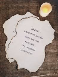 game of thrones party set got drinks menu party ideas