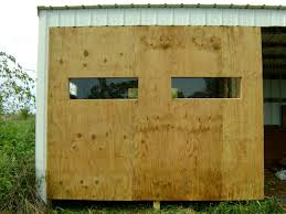 Sliding Deer Blind Windows Ideas Plans For Building 6x8 Elivated Ground Blind Michiganth