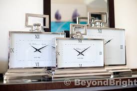 william smith 52cm mantle clock white