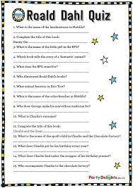 printable quizzes uk free printable roald dahl quiz dahl free printable and gaming
