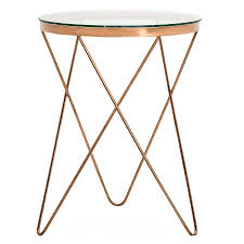 gold metal side table side table gold metal side table rose glass contemporary and gold