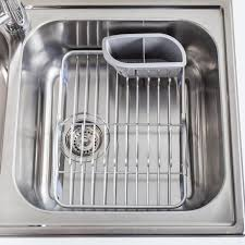 KSP Inset Sink Dish Rack Aluminum Kitchen Stuff Plus - Kitchen sink dish rack