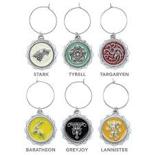 of thrones wine charms officialy licensed house sigil