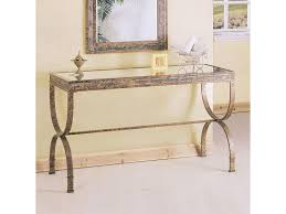 Acme Furniture Acme Furniture Egyptian Rectangular Console Table With Glass Table