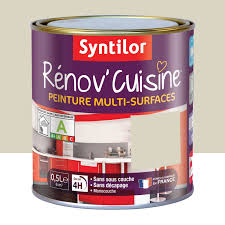 peinture pour plan de travail de cuisine peinture rénov cuisine syntilor beige crème de gingembre 0 5 l