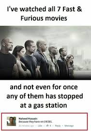 Gas Station Meme - fast and furious movie funny meme funny memes
