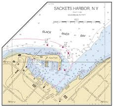 New York On The Map by Sackets Harbor New York Inset Nautical Chart νοαα Charts Maps