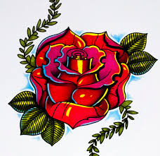 how to draw a rose new skool tattoo style part 2 youtube