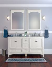 Exciting White Bathroom Vanity Mirror And Grey Design Ideas
