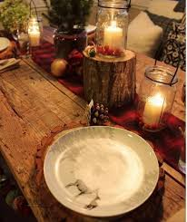 rustic dinner table settings pin by iwona anowi on simple christmas pinterest cabin