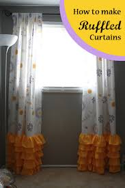 Curtains With Ruffles Runs With Spatulas Crafty Fridays How To Make Curtains With Ruffles