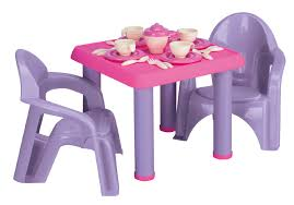 plastic round table and chairs just kidz 28 piece tea party set shop your way online shopping