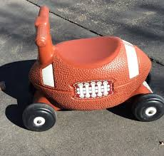 Little Tikes Activity Garden Rock N Spin by Step 2 Sports Touchdown Rider Football Toddler Ride On Car Rare