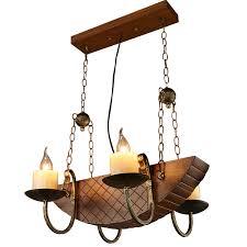 pirate ship light fixture loft iron pendant lights creative industrial wind cafe fish