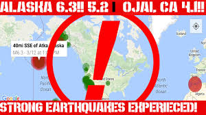 Ojai California Map Earthquake Report March 11 12 Massive Earthquakes Ojai Ca