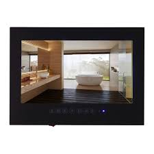bathroom tv ideas contemporary waterproof tv inside souria 19 inch android 4 2 smart