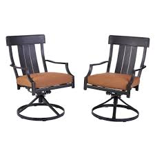 Patio Dining Chairs With Cushions Hton Bay Oak Heights Motion Metal Outdoor Patio Dining Chairs