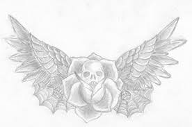 skull rose wing tattoo by bupbupbupbupbup on deviantart