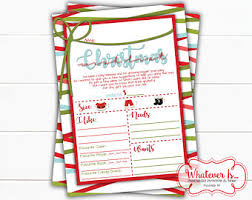 christmas wish list christmas wish list etsy