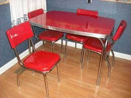 Best Chrome Kitchen Dinette Table And Chairs Images On - Red kitchen table and chairs