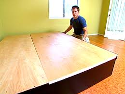 How To Build A Wood Platform Bed by Platform Bed Ideas And Diy Plans Hgtv