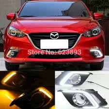 2016 mazda 3 fog light kit 2x white tube led daytime day fog light drl signal light run l