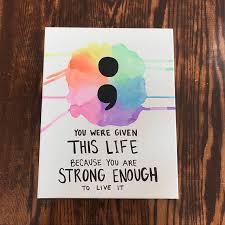 semicolon art depression awareness mental health semicolon