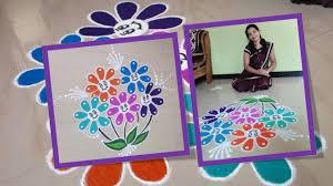 Smiley Flowers - smiley flowers rangoli youtube