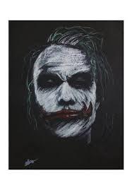 the joker heath ledger wall artist vivek aind postergully