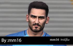 gundogan hair gundogan face for pes 2017 by mm16 pes patch