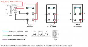 dpdt toggle switch to switch a transformer output from series to