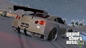nissan gtr gta 5 xbox 360 gta 5 drifting in snow motion 2 nissan gtr r35 rocket bunny