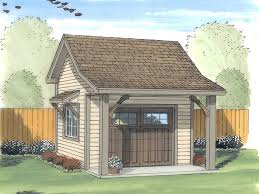 Backyard Garage Ideas Shed Plans Storage Shed Plan With Overhead Door Design 050s