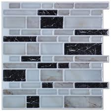 Kitchen Backsplash Panels Peel N Stick Kitchen Backsplash Tiles Stone Brick Pattern Wall