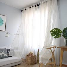 striped bedroom curtains modern cotton linen gold striped bedroom sheer curtains for living
