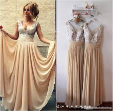 beautiful lace long sleeve gold two piece prom dresses 2017 satin