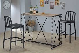 industrial style pub table industrial style bar table set