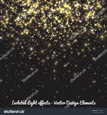 vector golden falling lights effect sparkling stock vector